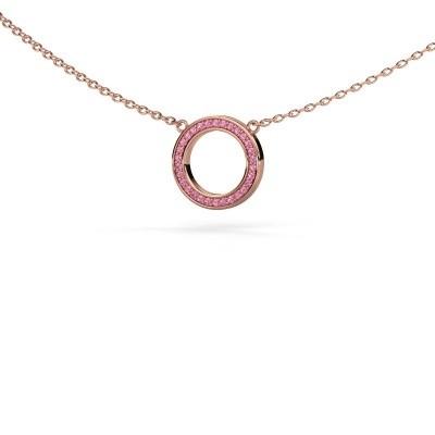Hanger Round 1 375 rosé goud roze saffier 0.8 mm