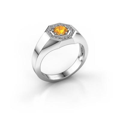 Foto van Heren ring Jaap 375 witgoud citrien 5 mm