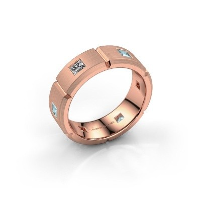 Foto van Heren ring Steve 375 rosé goud zirkonia 3 mm