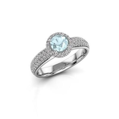 Engagement ring Mildred 585 white gold aquamarine 5 mm
