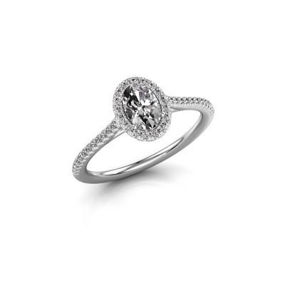 Foto van Verlovingsring Seline ovl 2 950 platina diamant 0.71 crt