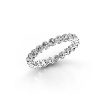 Photo de Bague Mariam 0.03 585 or blanc diamant synthétique 0.69 crt
