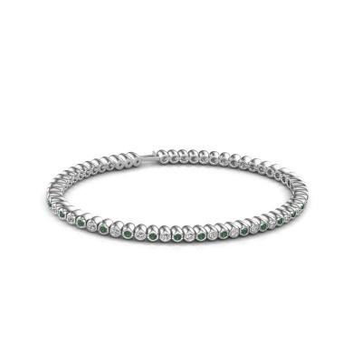 Bild von Tennis Armband Trix 585 Weißgold Smaragd 2 mm