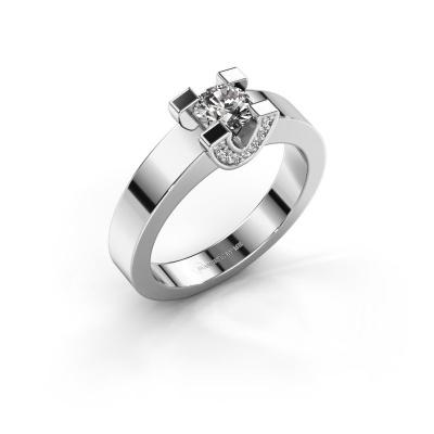Verlovingsring Jasmijn 1 925 zilver diamant 0.48 crt