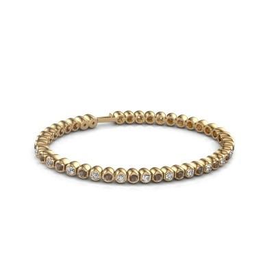 Foto van Tennisarmband Asley 375 goud rookkwarts 3 mm