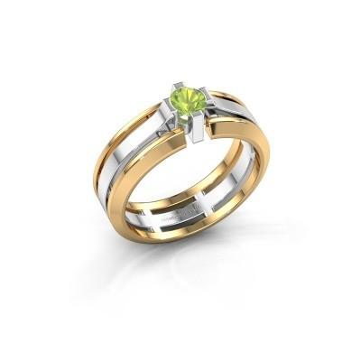 Foto van Heren ring Sem 585 witgoud peridoot 4.7 mm
