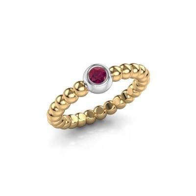 Stackable ring Dini 585 gold rhodolite 3 mm