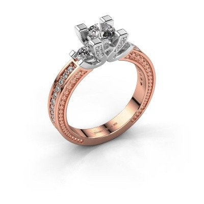 Picture of Engagement ring Ninthe 585 rose gold zirconia 5 mm