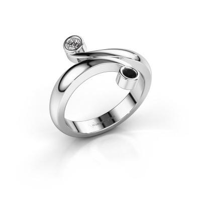 Ring Hilary 950 platina zwarte diamant 0.132 crt