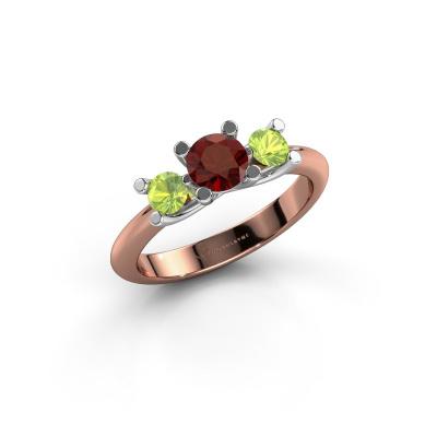 Ring Mirthe 585 Roségold Granat 5 mm