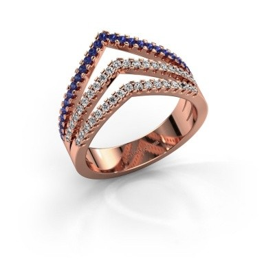 Ring Kendra 375 rose gold sapphire 1.2 mm