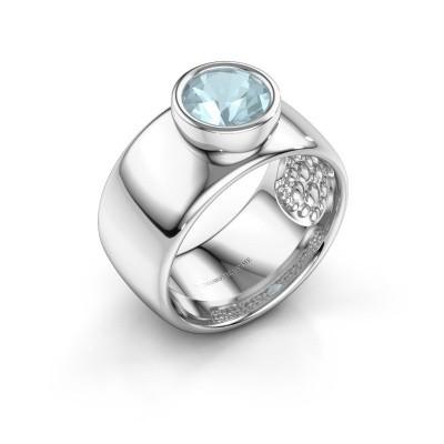 Ring Klarinda 925 silver aquamarine 7 mm