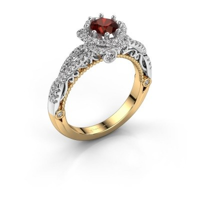 Engagement ring Lysanne 585 gold garnet 5 mm