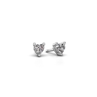 Foto van Oorstekers Garnet 925 zilver diamant 0.50 crt