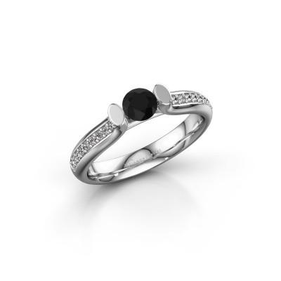 Foto van Verlovingsring Ashlyn 2 585 witgoud zwarte diamant 0.54 crt
