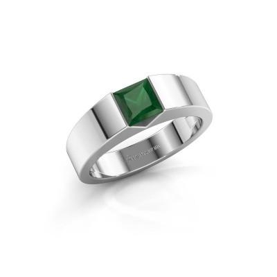 Foto van Verlovingsring Arlena 1 585 witgoud smaragd 4 mm