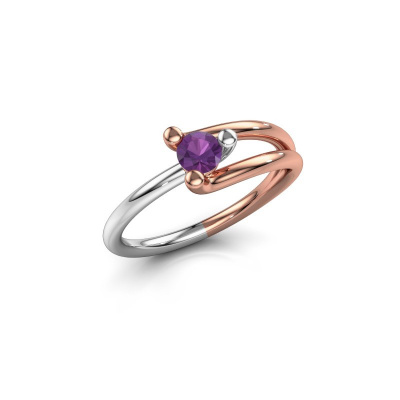 Picture of Engagement ring Roosmarijn 585 rose gold amethyst 4 mm