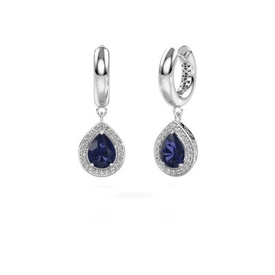 Picture of Drop earrings Barbar 1 585 white gold sapphire 8x6 mm