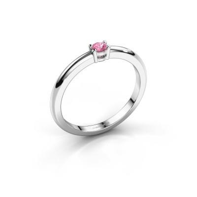 Foto van Verlovingsring Michelle 1 925 zilver roze saffier 2.7 mm