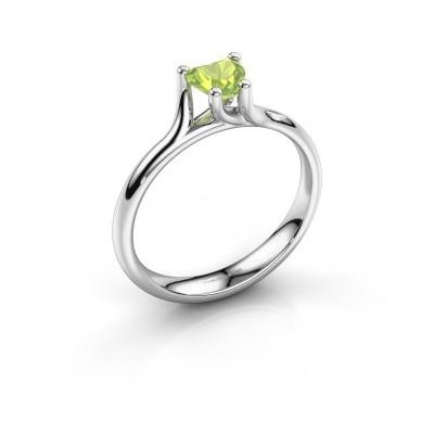 Verlobungsring Dewi Heart 585 Weißgold Peridot 5 mm