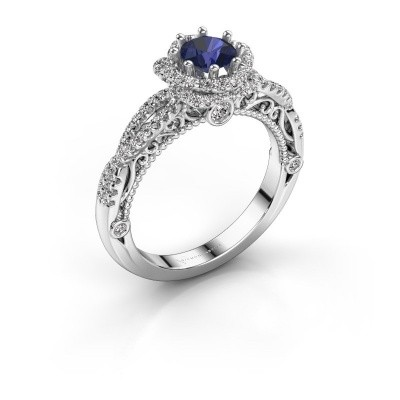 Picture of Engagement ring Lysanne 585 white gold sapphire 5 mm
