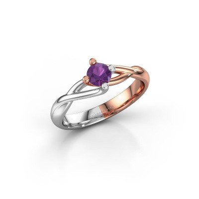 Picture of Ring Paulien 585 rose gold amethyst 4.2 mm