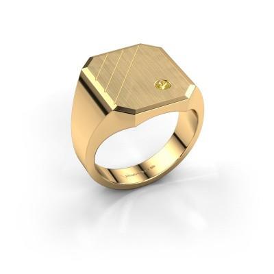 Foto van Zegelring Patrick 5 585 goud gele saffier 2.5 mm