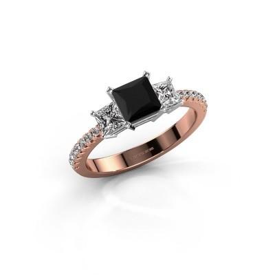 Verlobungsring Dorla 585 Roségold Schwarz Diamant 1.605 crt