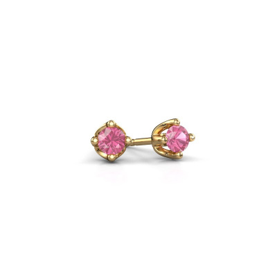 Foto van Oorknopjes Briana 375 goud roze saffier 3.7 mm