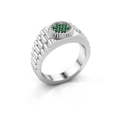 Foto van Rolex stijl ring Nout 585 witgoud smaragd 2 mm