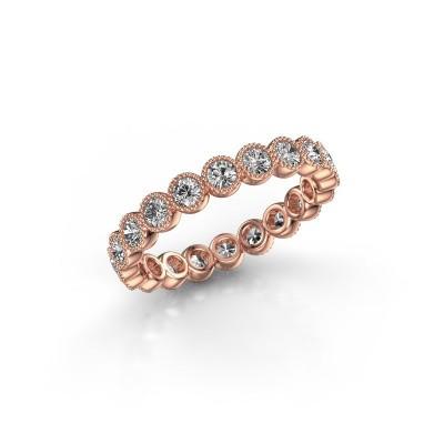 Foto van Ring Mariam 0.05 375 rosé goud lab-grown diamant 1.10 crt