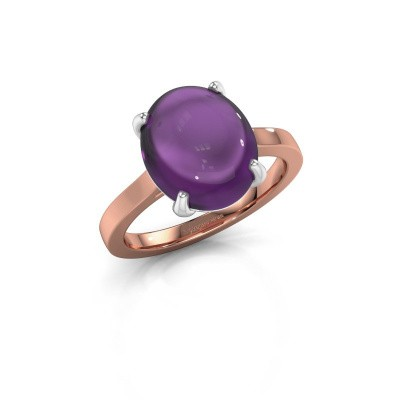 Picture of Ring Mallie 1 585 rose gold amethyst 12x10 mm