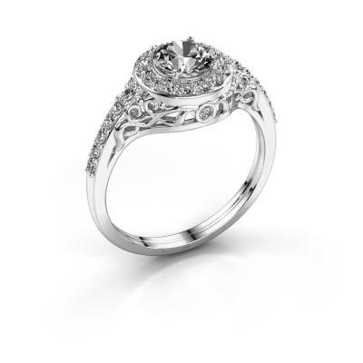 Foto van Ring Yurani 950 platina diamant 1.22 crt