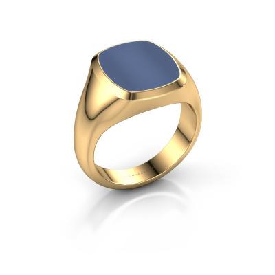 Foto van Zegelring Benjamin 3 585 goud blauw lagensteen 14x12 mm