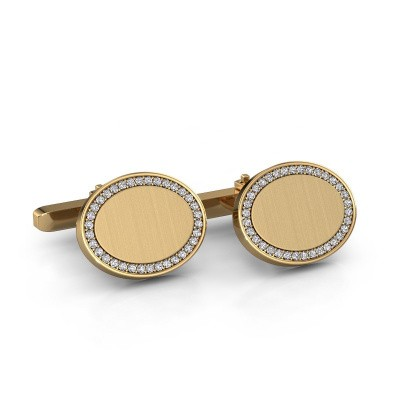 Picture of Cufflinks Richano 585 gold diamond 0.51 crt