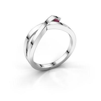 Ring Alyssa 585 Weißgold Rhodolit 2 mm
