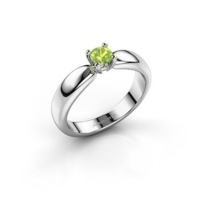 Promise ring Katrijn 950 platina peridoot 4.2 mm