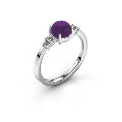 Ring Regine 925 zilver amethist 6 mm