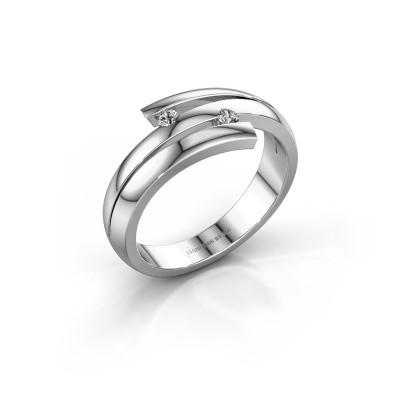 Foto van Ring Dena 585 witgoud lab-grown diamant 0.06 crt