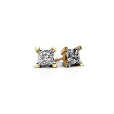 Picture of Stud earrings Ariane 585 gold zirconia 5 mm