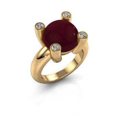 Foto van Ring Janice RND 585 goud granaat 12 mm