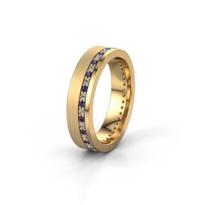 Trouwring WH0303L15BPM 585 goud saffier 1.3 mm ±5x2 mm