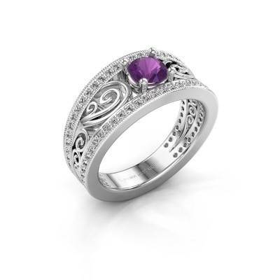 Picture of Engagement ring Julliana 585 white gold amethyst 5 mm