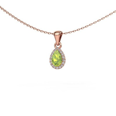 Picture of Necklace Monique 375 rose gold peridot 6x4 mm