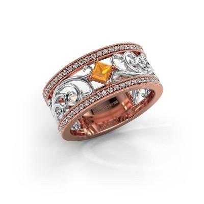Ring Danae 585 rosé goud citrien 3 mm