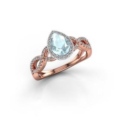 Engagement ring Dionne pear 585 rose gold aquamarine 7x5 mm
