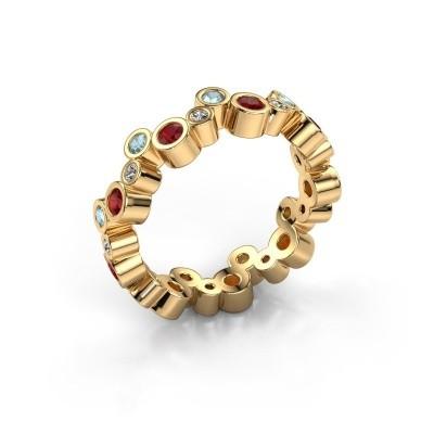 Foto van Ring Tessa 585 goud robijn 2.5 mm