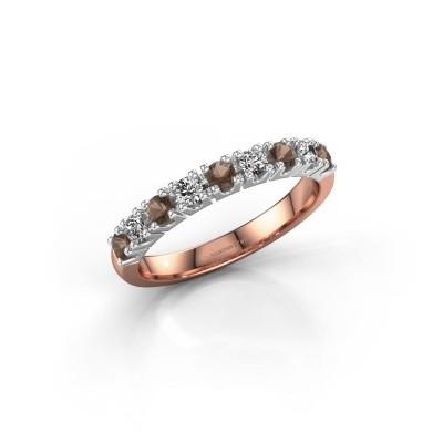 Engagement ring Rianne 9 585 rose gold smokey quartz 2.4 mm