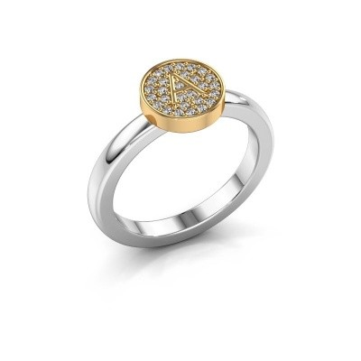Ring Initial ring 010 585 witgoud