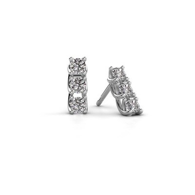 Picture of Earrings Fenna 925 silver zirconia 3 mm